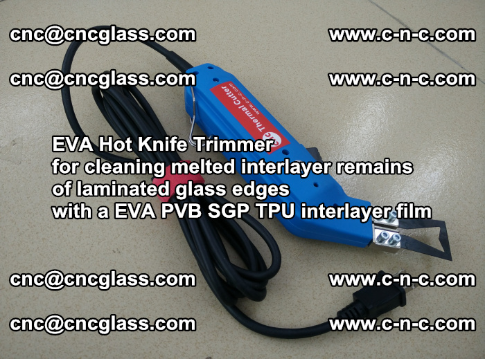 EVA Hot Knife Trimmer for cleaning interlayer remains of solar panel modules (14)