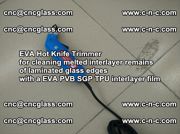 EVA Hot Knife Trimmer for cleaning interlayer remains of solar panel modules (18)