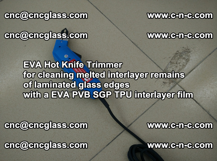 EVA Hot Knife Trimmer for cleaning interlayer remains of solar panel modules (19)