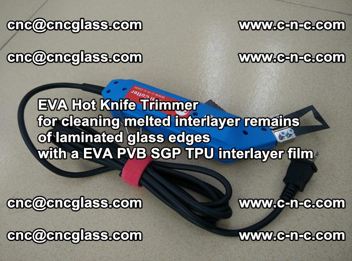 EVA Hot Knife Trimmer for cleaning interlayer remains of solar panel modules (2)