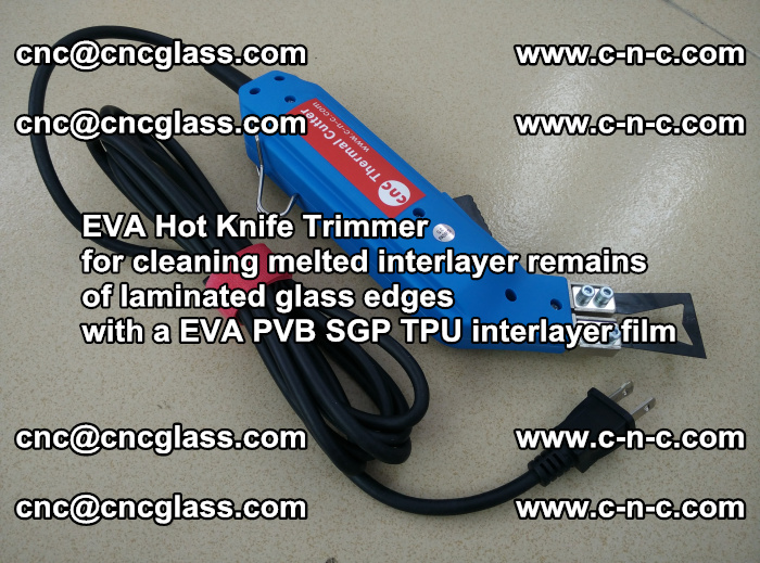 EVA Hot Knife Trimmer for cleaning interlayer remains of solar panel modules (24)