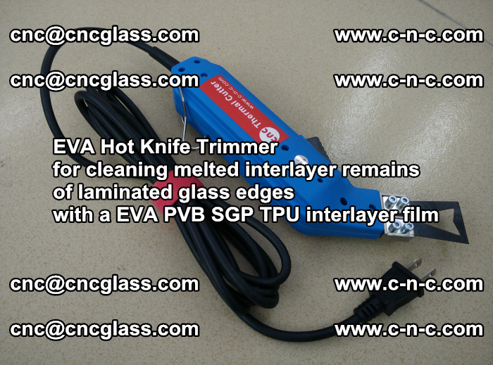 EVA Hot Knife Trimmer for cleaning interlayer remains of solar panel modules (26)