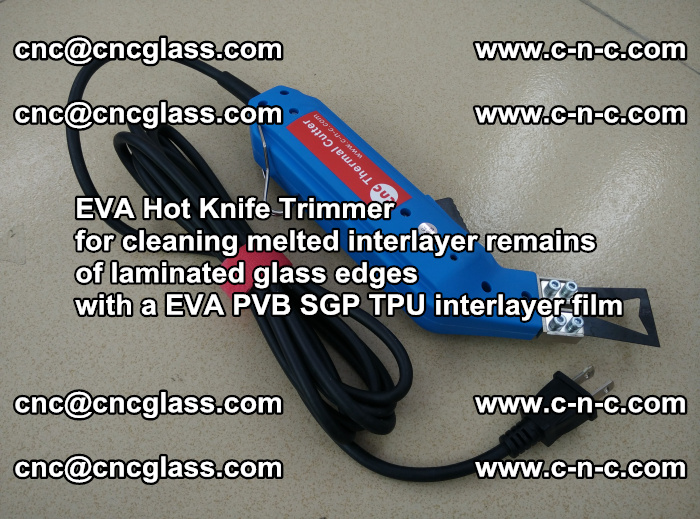 EVA Hot Knife Trimmer for cleaning interlayer remains of solar panel modules (27)