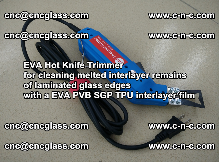 EVA Hot Knife Trimmer for cleaning interlayer remains of solar panel modules (28)