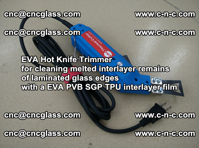 EVA Hot Knife Trimmer for cleaning interlayer remains of solar panel modules (29)