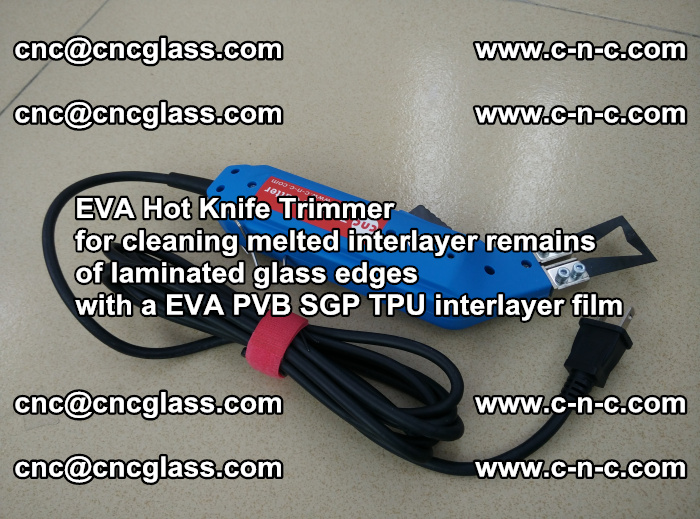 EVA Hot Knife Trimmer for cleaning interlayer remains of solar panel modules (3)