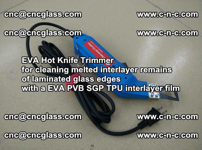 EVA Hot Knife Trimmer for cleaning interlayer remains of solar panel modules (30)