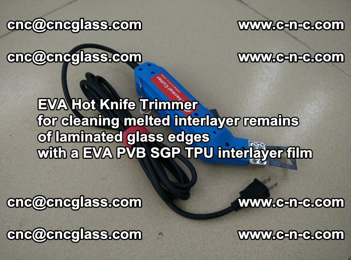 EVA Hot Knife Trimmer for cleaning interlayer remains of solar panel modules (34)