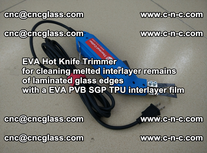 EVA Hot Knife Trimmer for cleaning interlayer remains of solar panel modules (35)
