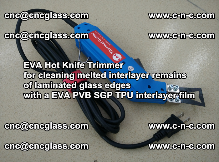 EVA Hot Knife Trimmer for cleaning interlayer remains of solar panel modules (39)