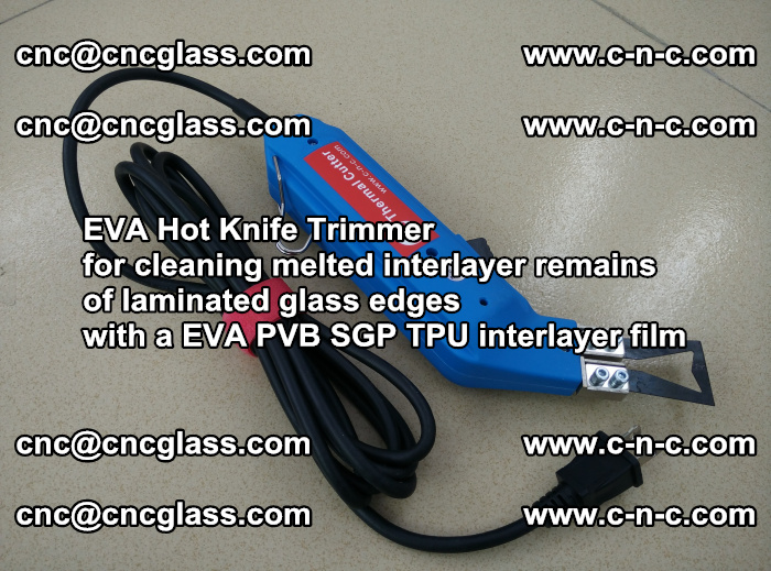 EVA Hot Knife Trimmer for cleaning interlayer remains of solar panel modules (47)