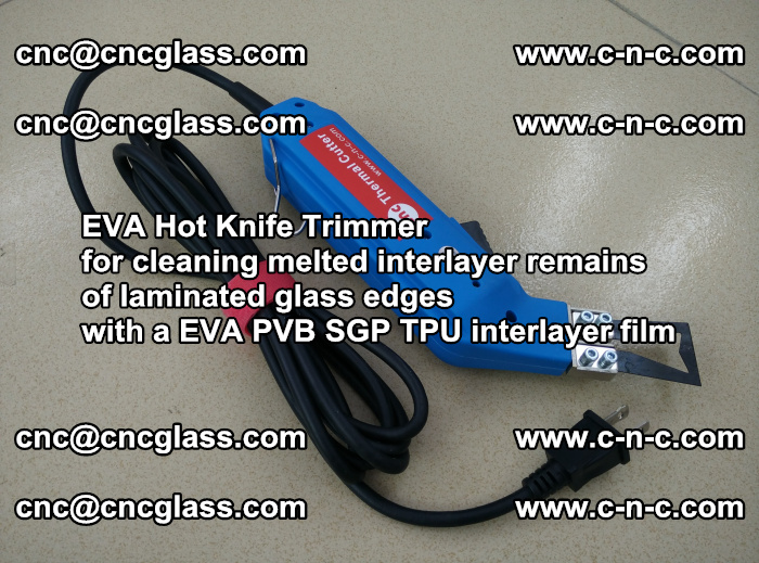 EVA Hot Knife Trimmer for cleaning interlayer remains of solar panel modules (48)