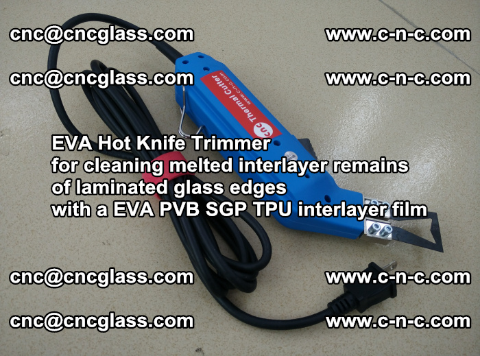 EVA Hot Knife Trimmer for cleaning interlayer remains of solar panel modules (8)