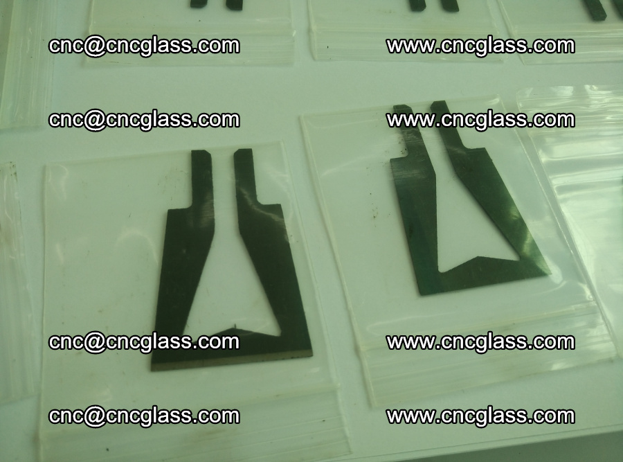 Blades for Thermal cutter trimming laminated glass edges overflowed remains (10)