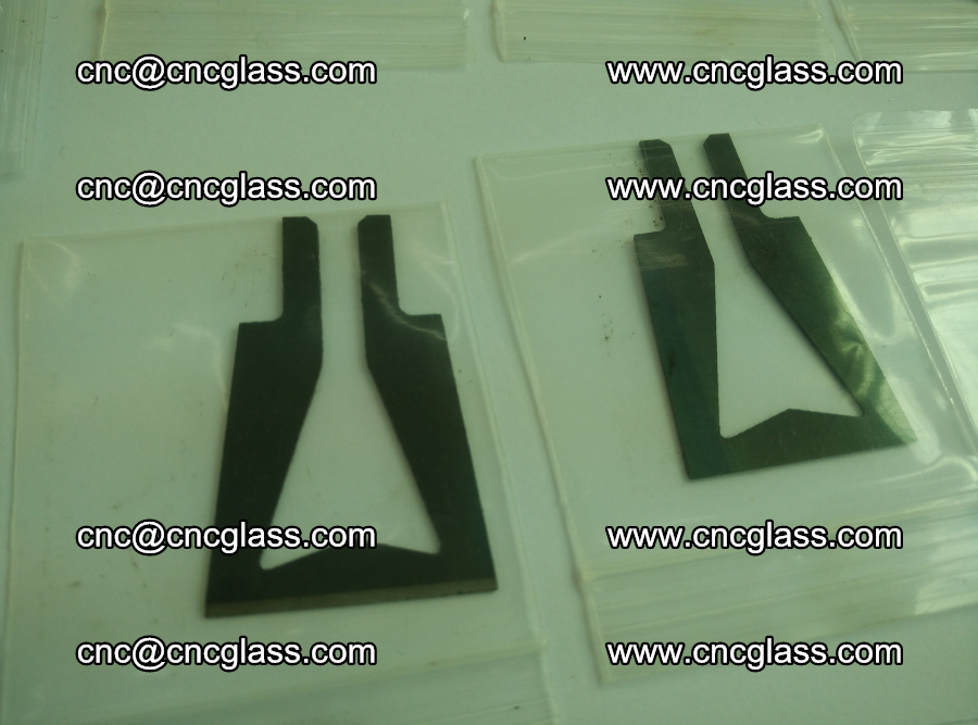 Blades for Thermal cutter trimming laminated glass edges overflowed remains (11)