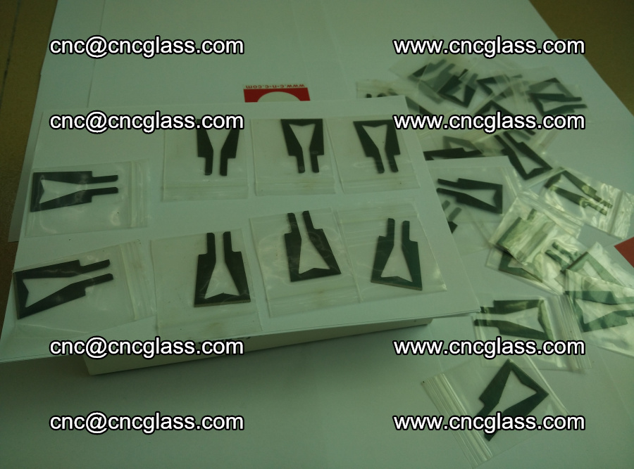 Blades for Thermal cutter trimming laminated glass edges overflowed remains (18)