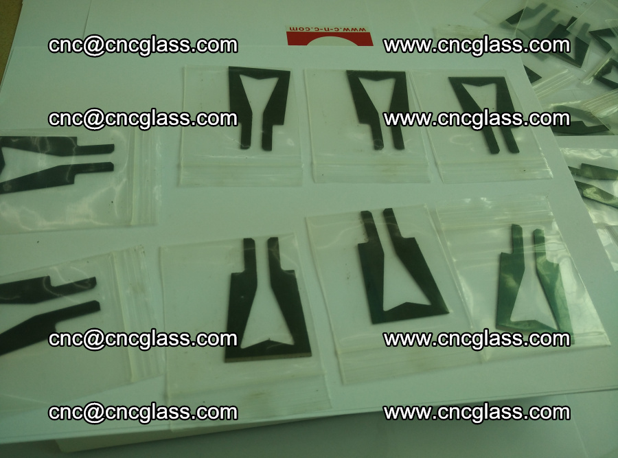 Blades for Thermal cutter trimming laminated glass edges overflowed remains (5)