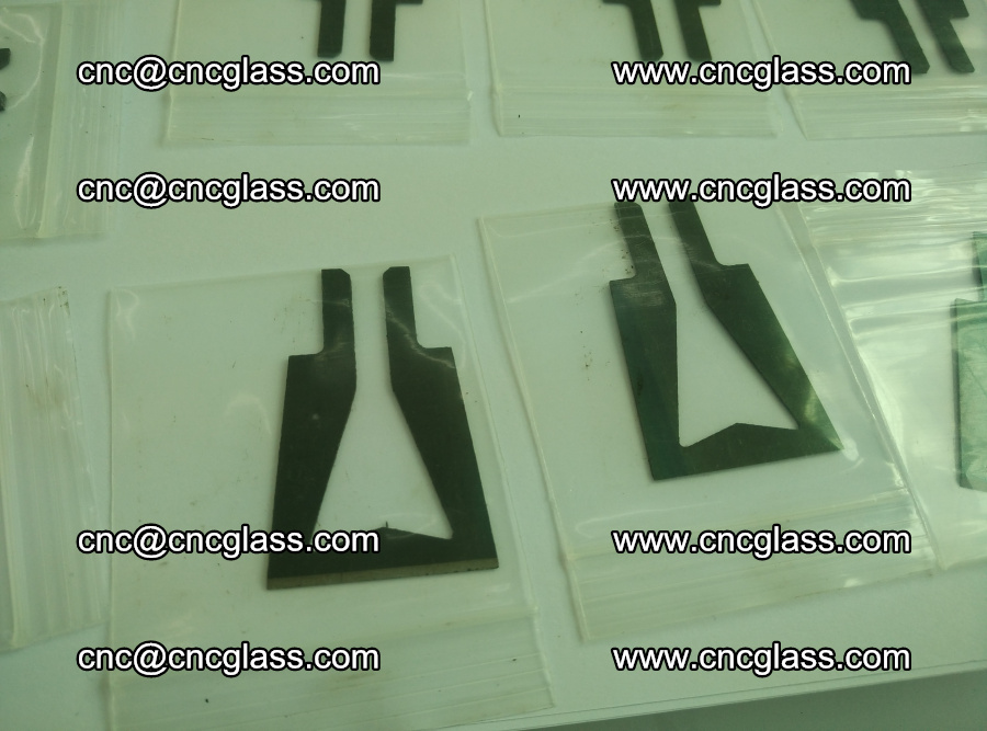 Blades for Thermal cutter trimming laminated glass edges overflowed remains (9)
