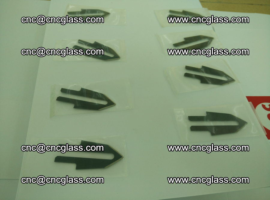 Blades for Thermal cutter trimming laminated glass edges overflowed remains (SGP INTERLAYER) (14)